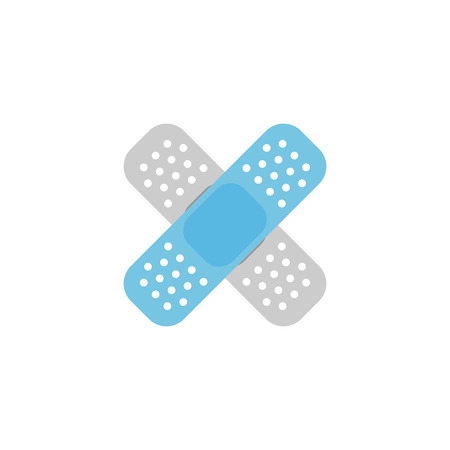 white patches: bandage vector icon