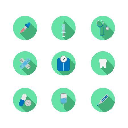 medical equipment: medical equipment icon set  vector Illustration
