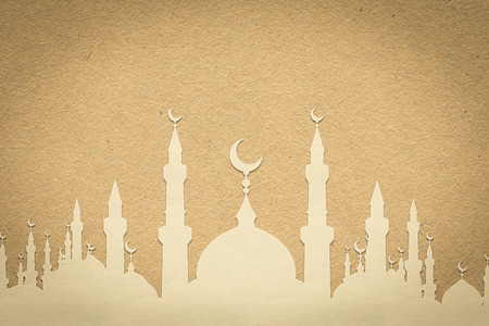 mosque paper , paper design for web ,Stickers, Tags