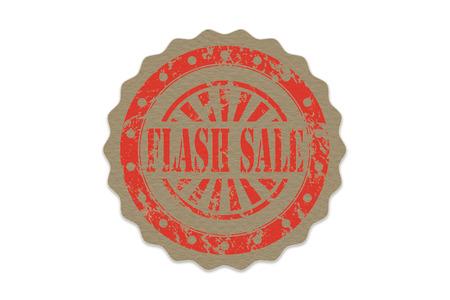 flash sale stamp on paper