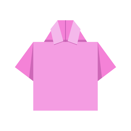 work clothes: Shirt origami Vector Design Illustration