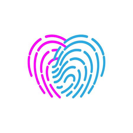 fingermark: fingerprint icon. illustration  sign symbol