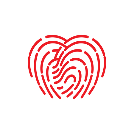 odcisk kciuka: fingerprint icon. illustration  sign symbol
