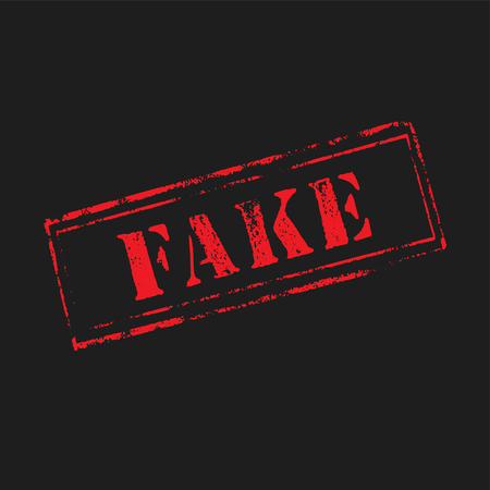 counterfeit: FAKE rubber stamp