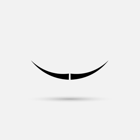 fake mask: Mustache vector on white background