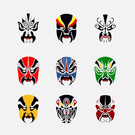 Peking-Oper Maske der alten Menschen