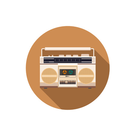 retro: Retro Radio icon vector