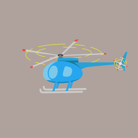rotor: Illustration of flat helicopter.