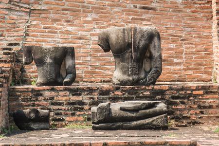 antiques: AYUTTHAYA, THAILAND Ruins and Antiques at the Ayutthaya Historical Park