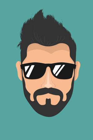 Bearded man with sunglasses Illustration