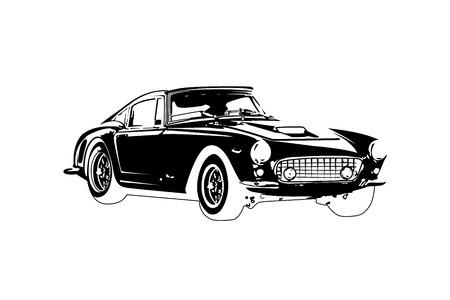 car: classic vintage retro car , vector design