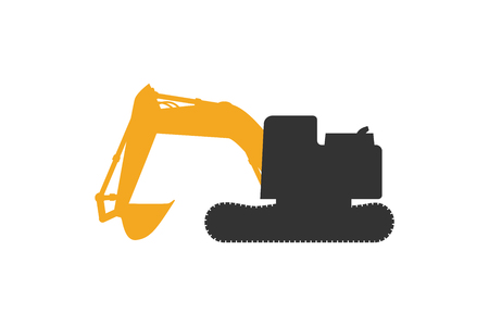 Excavator car in black and yellow