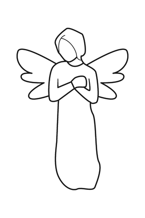 angel Line vector on white background