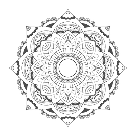 Circle Mandala Vector on white background
