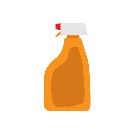 antiseptic: Cleaning spray bottle on white background , vector Illustration