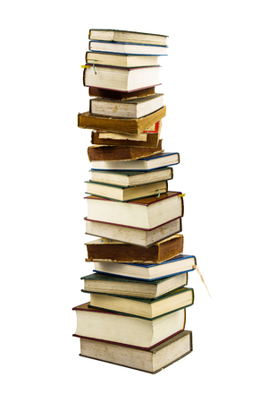 stack of books isolated on white Stock Photo