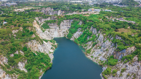 An aerial view of  Grand Canyon Chonburi Thailand ,Landmark  in Chonburi Thailand . Stock Photo