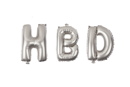 English alphabet   from  balloons on a white background .