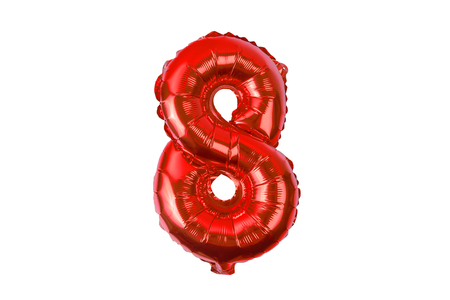 numerals from balloons on a white background