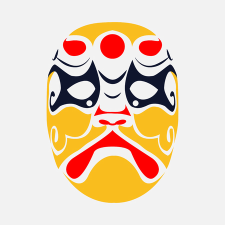 Beijing opera mask  of ancient people , vector