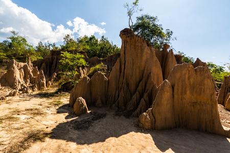 soil textures of  Sao Din Nanoy, Nan Province, Thailand . Reklamní fotografie