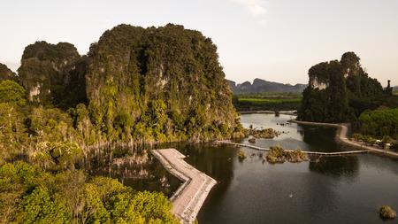 Landscape of  mountain  in krabi province Thailand  . Фото со стока