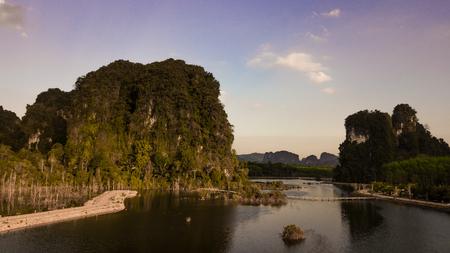 Landscape of  mountain  in krabi province Thailand  . 版權商用圖片