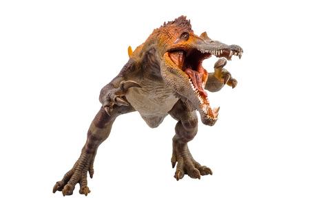 Baryonyx, dinosaurio sobre fondo blanco.