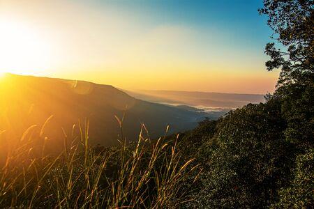 Pha Deaw Dai scogliere del Parco Nazionale di Khao Yai in Thailandia.