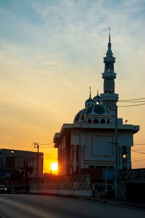The mosque in the morning , Twilight time . Standard-Bild
