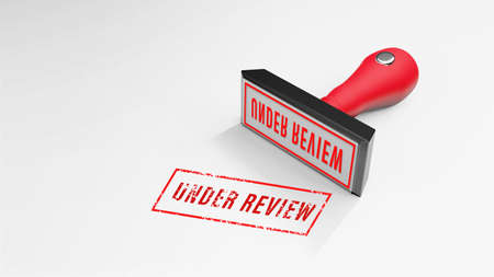 UNDER REVIEW  rubber Stamp 3D rendering
