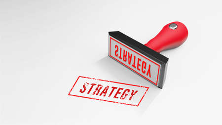 STRATEGY rubber Stamp 3D rendering