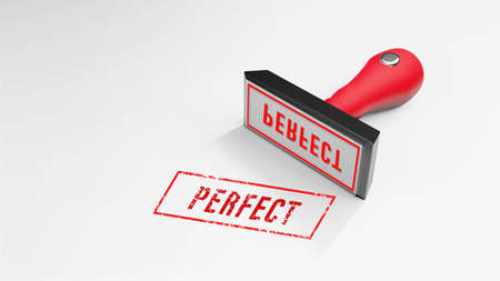 PERFECT rubber Stamp 3D rendering