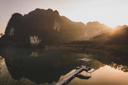 landscape of Mountain in Twilight time , Krabi Thailand