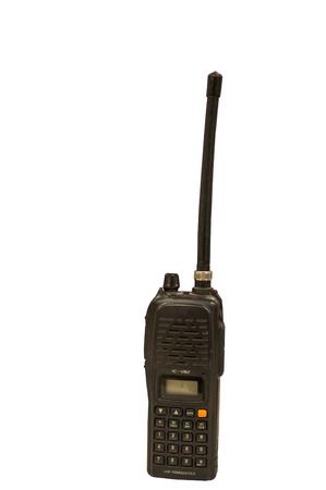 aisa: black radio is tool for communicate news,voice, Stock Photo