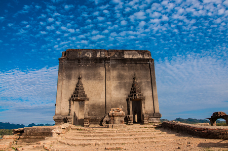 archaeological: archaeological site with sky in Thailand