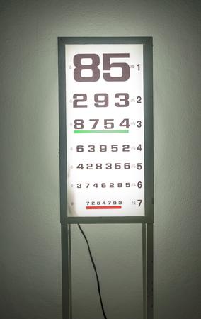 snellen: snellen chart is medical examination in eye disease