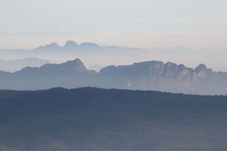 Mountain range phukradung thailand photo