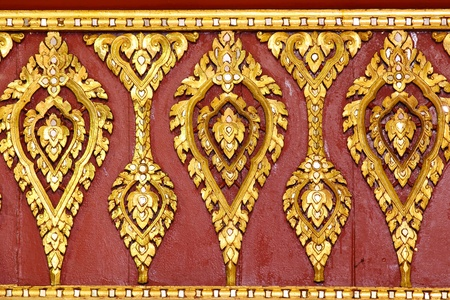 Thai Golden Carving Temple Roof photo