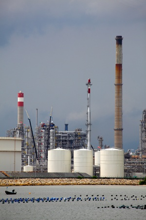 Oil refinery plant photo