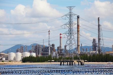 Oil Refinery Plant Zdjęcie Seryjne