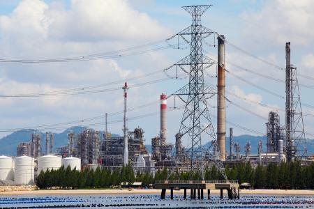 naphtha: Oil Refinery Plant Stock Photo