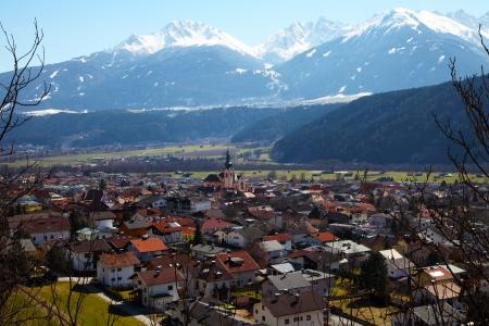 Zirl, market town in the district of innsbruck land, Austria Zdjęcie Seryjne - 22544035