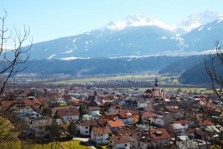 Zirl, market town in the district of innsbruck land, Austria Zdjęcie Seryjne