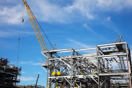 drilling platform: Drilling Platform under Construction Stock Photo