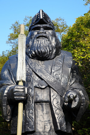 God Statue of Ainu Village in Hokkaido, Japan Publikacyjne