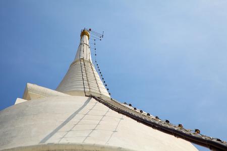 Ladder to Top of White Pagoda at Wat Prayoon in Bangkok, Zdjęcie Seryjne