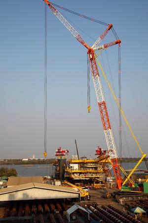 Drilling Platform under Construction Zdjęcie Seryjne