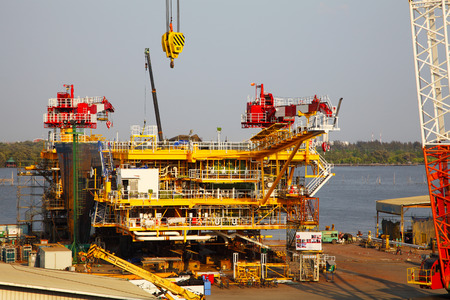 Drilling Platform under Construction Zdjęcie Seryjne - 43828843