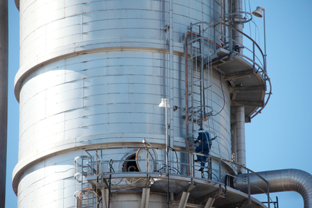 Petrochemical Plant During Maintenance Shutdown